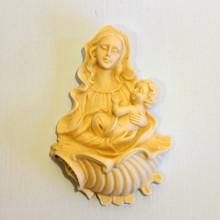 SP 007 cm 7x10 - Acquasantiera Madonna con Bambino in marmorina