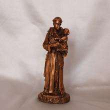 SP 010 CU cm 15,5 h - S. Antonio da Padova in marmorina finitura rame bronzato