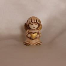 SP 108/1 cm 5 h - Angioletto tondo in marmorina decorata a mano