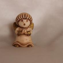 SP 108/2 cm 5 h - Angioletto tondo in marmorina decorata a mano