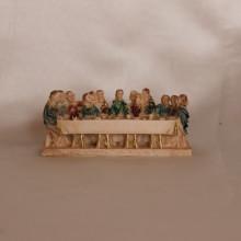 SP 002 cm 9 lungh. - Tavolo ultima cena in marmorina decorato a mano