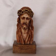 SP 011 cm 13 h - Busto di Gesù in marmorina decorato a mano