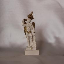 SP 028 cm 9 h - San Michele Arcangelo in marmorina con particolari decorati a porporina oro