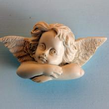 SP 043 cm 4x10 - Angelo Raffaello due ali  in marmorina