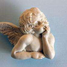 SP 044 cm 7x8 - Angelo Raffaello un'ala in marmorina