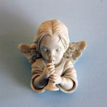 SP 042 cm 7x7 -Angelo mignon musico in marmorina