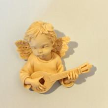 SP 041 cm 8x8 - Angelo mignon  musico in marmorina