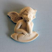 SP 045 cm 4,5x5,5 - Angelo nuvola mignon in marmorina