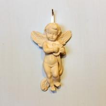 SP 004/3 cm 9x15 - Angelo con arpa in marmorina