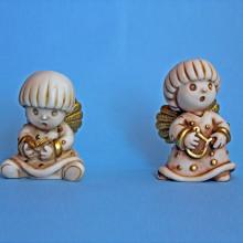 SP 117/1-2 cm 5x7,5 - Angeli tondi in marmorina decorata